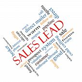 Sales Lead Word Cloud Concept Angled