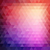 stock photo of parallelepiped  - Retro mosaic pattern of geometric texture from triangle shapes - JPG