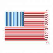U.S. barcode vector illustration isolated