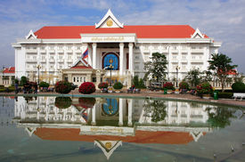 foto of prime-minister  - Prime Minister Office building Vientiane Laos Southeast Asia - JPG