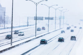image of modifier  - Blizzard on the Road and bad Visibility  - JPG