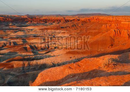 Sunset At Little Painted Desert, Arizona