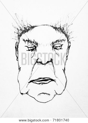 Elderly Pencil Drawing Caricature