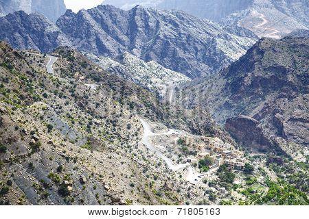 Road Jebel Akhdar Oman