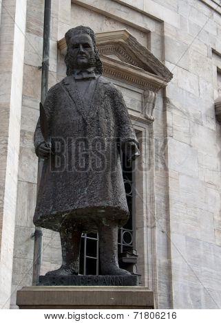 Statue Of Bernard Severin Ingemann.