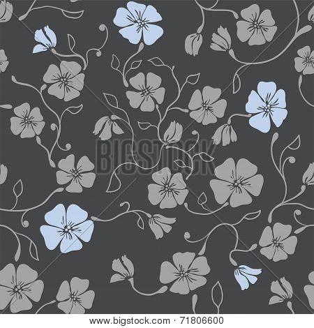 Renaissance Floral Seamless Pattern