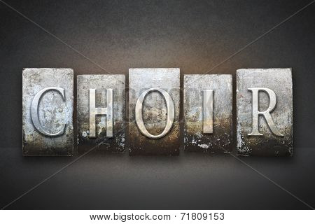 Choir Letterpress