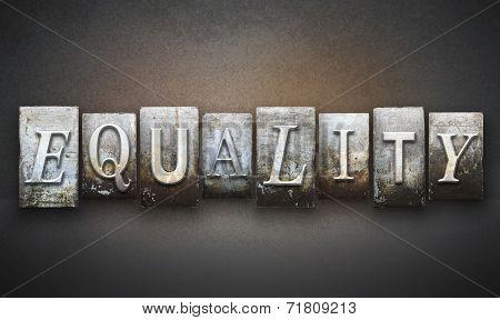 Equality Letterpress