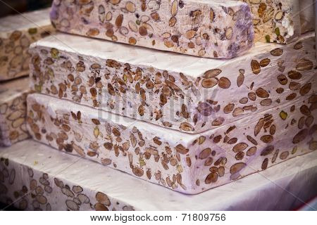 Nougat Selling In A French Market