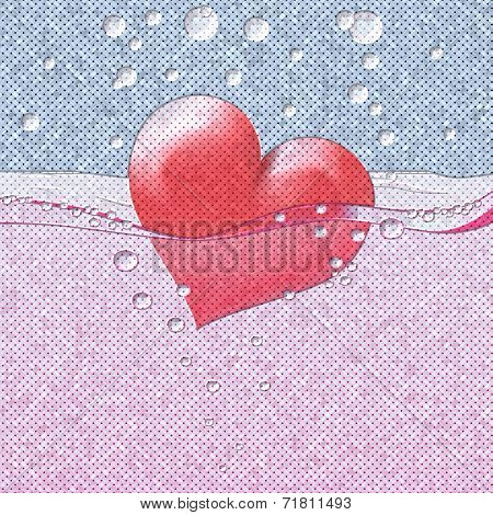 Philtre Drink Of Love Relief Painting On Generated Knit Texture