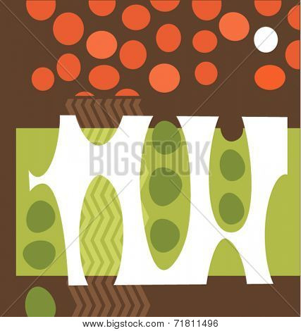 abstract peas and tomatoes graphic design collage