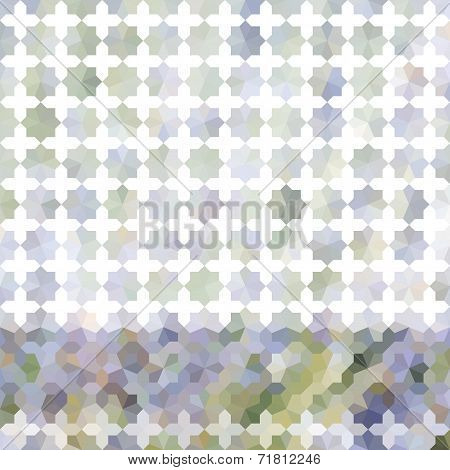 Lavender Pastel Defocused Background With Geometric Ornament. Eps10