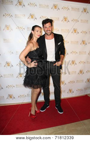 LOS ANGELES - SEP 10:  Elena Grinenko, Maksim Chmerkovskiy at the Dance With Me USA Grand Opening at Dance With Me Studio on September 10, 2014 in Sherman Oaks, CA