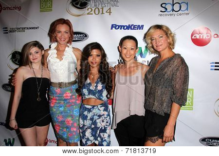 LOS ANGELES - SEP 6: Alexis Raich, Kristanna Loken, Tiffany Panhilason, Nicole Bilderback, Zoe Bell at the
