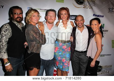 LOS ANGELES - SEP 6:  Tim Abell, Zoe Bell, Christopher Ray, Kristanna Loken, Gerald Webb, Nicole Bilderback at the