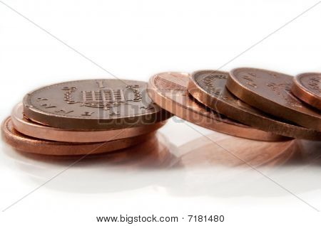 Fallen copper coins