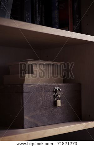 Spooky Wooden Box With Lock
