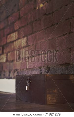 Spooky Box On Floor With Padlock