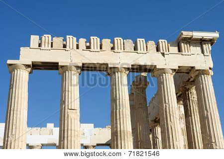 Columns Of Parthenon Temple In Greece