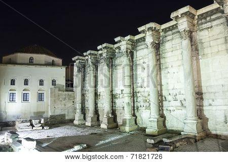 Hadrian Library And Tzisdarakis Mosque