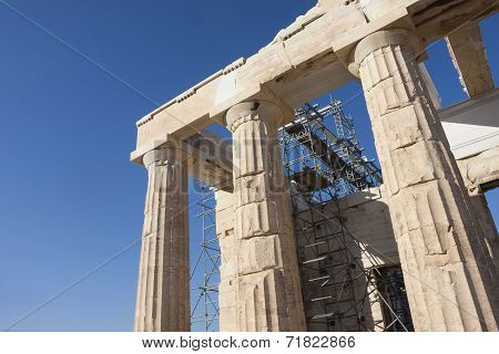 Reconstruction Of Temple Athena Nike In Acropolis