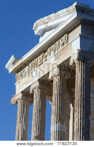 Temple Athena Nike On Acropolis Of Athens