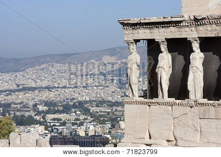Caryatids In Erechtheion Temple