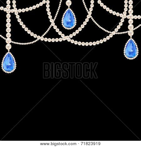 Hanging pearl necklace jewelry
