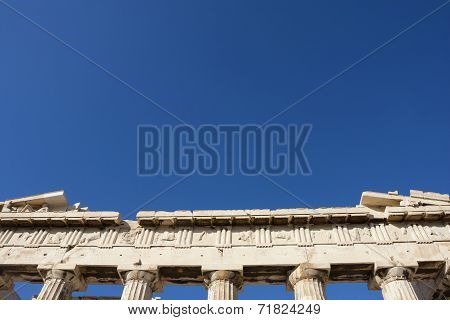 Close Up Of Parthenon Temple