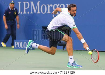 US Open 2014 champion Marin Cilic during final match against Kei Nishikori
