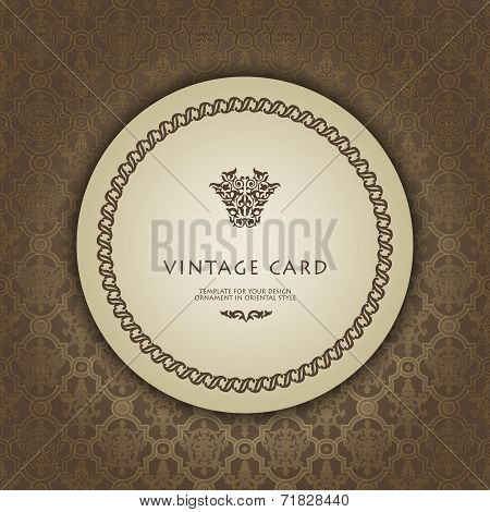 Card in traditional oriental style.