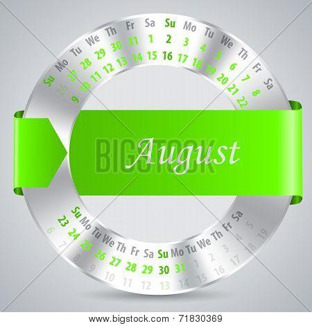 2015 August Calendar Design