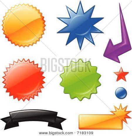 Mulit Colored Star Burst Designs