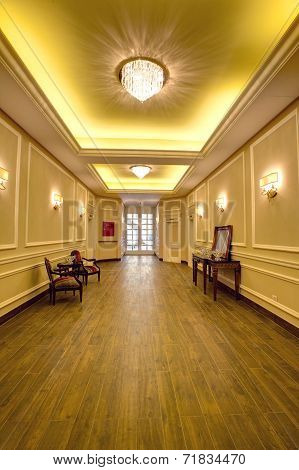 Luxurious corridor in a hotel