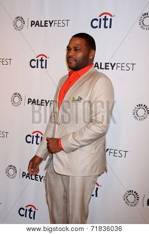 LOS ANGELES - SEP 11:  Anthony Anderson at the Paley Center For Media's PaleyFest 2014 Fall TV Previews - ABC at Paley Center For Media on September 11, 2014 in Beverly Hills, CA