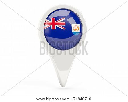 Round Flag Icon Of Anguilla