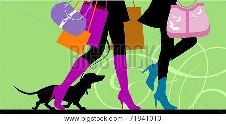Illustration of Shopping legs