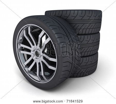 Four Car Wheel