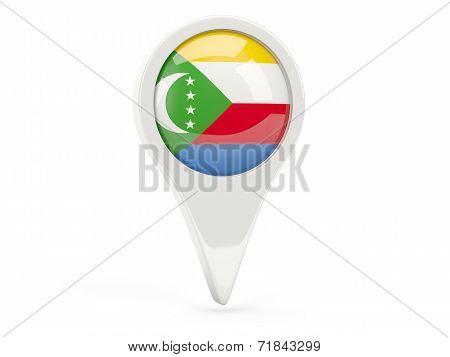 Round Flag Icon Of Comoros
