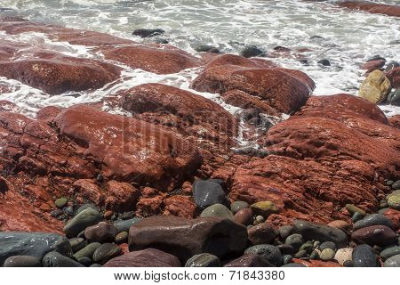 red rocks, St. Bride's, Newfoundland