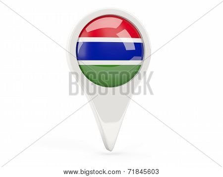 Round Flag Icon Of Gambia