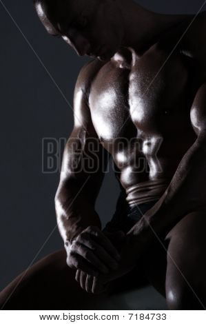Sexy Muscular Body Builder