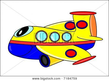 Funny plane for Children