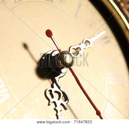 Clock close up footage