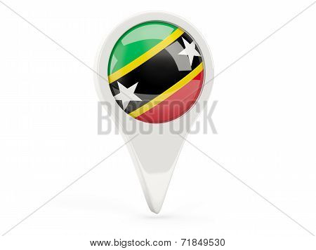 Round Flag Icon Of Saint Kitts And Nevis