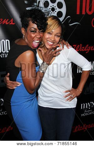 LOS ANGELES - AUG 2:  Tichina Arnold, Meagan Good at the Staying Power: Building Legacy & Longevity in Hollywood at Montalban Theater on September 2, 2014 in Los Angeles, CA