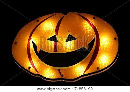 Glowing pumpkin face