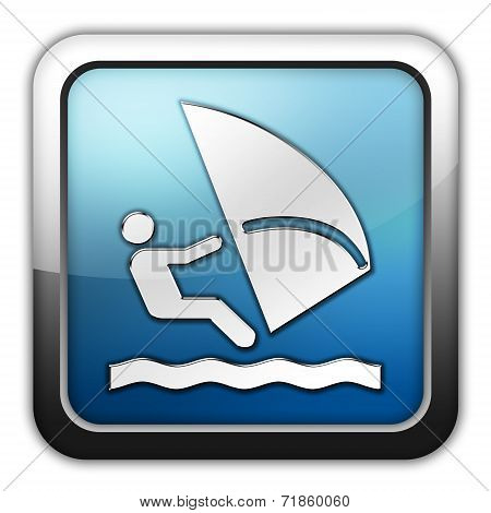 Icon, Button, Pictogram Windsurfing
