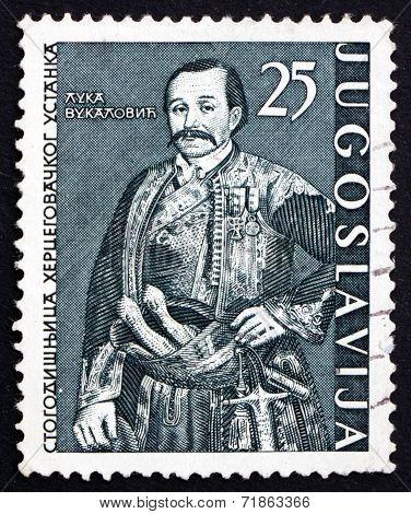 Postage Stamp Yugoslavia 1961 Luka Vukalovic, Uprising Leader