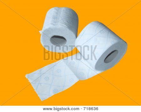 Toilet Paper With Clipping Path
